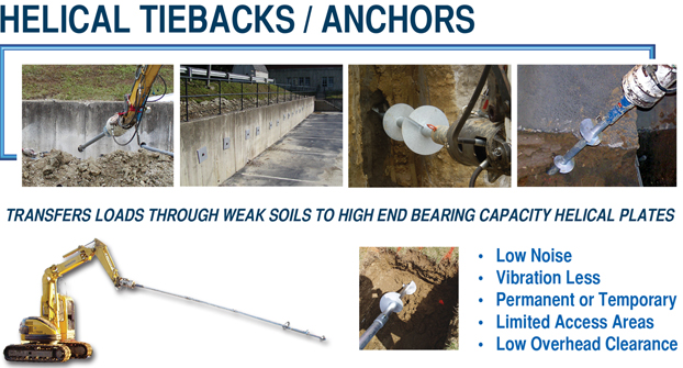 Dwyer Companies Commercial Helical Tiebacks Amp Anchor